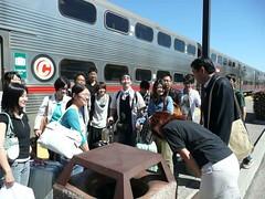 第4回鹿児島大学シリコンバレー研修ツアー  Caltrainを降りて