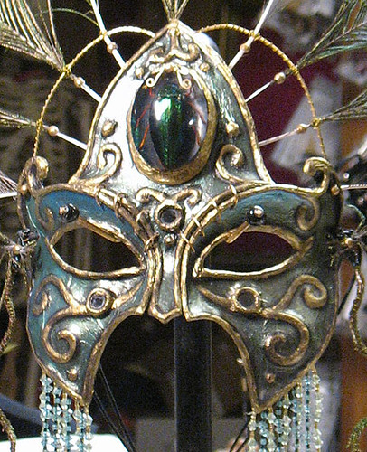 Green mask by Goblin Art, detail by goblinart