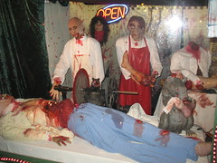 """Plastic"" surgeons (darth_meza) Tags: house halloween mannequins haunted creepy bloody corpse"