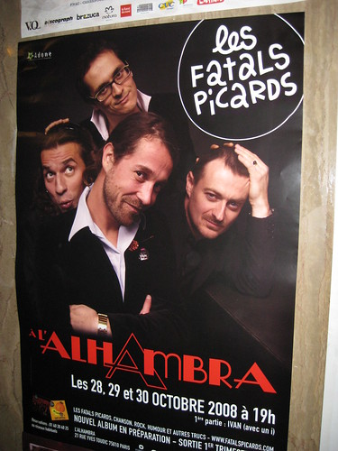 Les fatals picards en concert à l'alhambra sans Ivan qui a fait la première partie ... gros concert qui fera l'objet d'un dvd ...