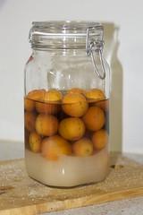 Cumquat Liqueur in Jar