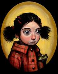 """Tomboy"" (verpabunny) Tags: original painting acrylic toad tomboy bugeyed barrettes kellyvivanco chongos"