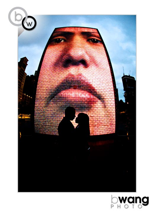 the Crown Fountain by Jaume Plensa in Millenium Park