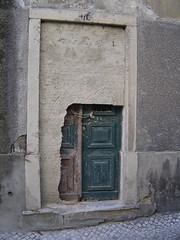 blocked or unblocked? (Joostla) Tags: door portugal architecture closed open lisbon doorway bricked