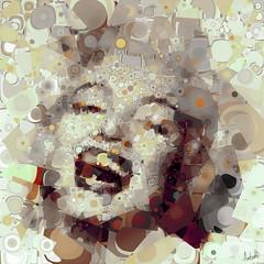 Cool Cutter (Village9991) Tags: people marilyn topv333 jean mosaic deception photomosaic illusion monroe topv777 norma dots village9991 goldenheartaward graphicmaster