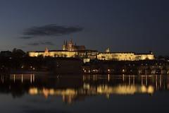 Prague Castle over the river