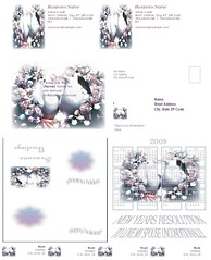 "Beautiful 5 piece ""lovedoves""stationary set by TheAndieManCan"