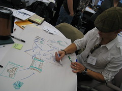 Jon sketching (mastermaq) Tags: events banff conferences userexperience mastermaq canux canux08