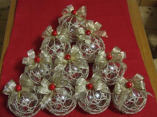 albero natale oro palline fiocchi