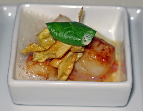 Amuse bouche: Caramelized bay  scallop