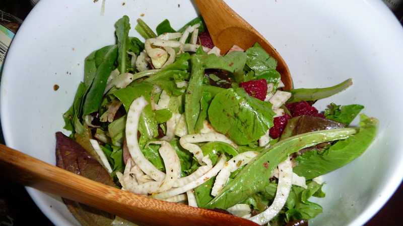 Fennel-orange-raspberry salad