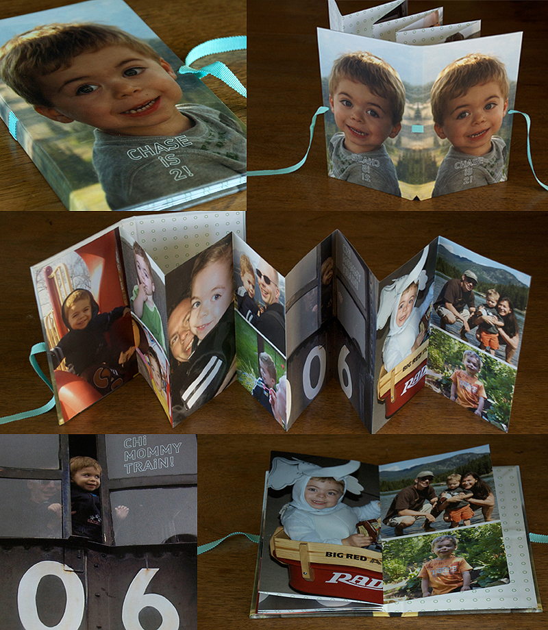 child's photos - accordion book