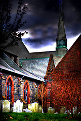 Some Rest for the Weary . . . (daystar297) Tags: nyc newyorkcity church graveyard photoshop cemetary manipulation graves burial restingplace churchyard hdr photomatrix platinumphoto hdrfromsingleexposure goldstaraward