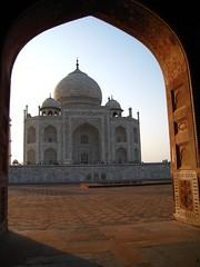 Taj Through Archway