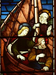 Memorial window detail St. Margaret - Wolston