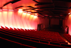 Auditorio en rojo II (C.Martín) Tags: barcelona rojo torreagbar