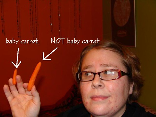 Baby carrot vs. not baby carrot.