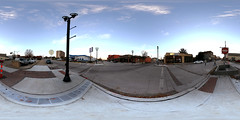 Spherical Photograph at the Corner of Delaware Street and 3rd Street in Leavenworth, Kansas