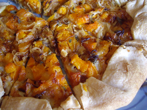 Butternut Squash Caramelized Onion Galette