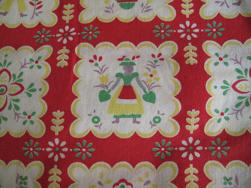 salvation army vintage fabric.red.yellow 002