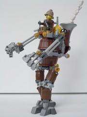 Titan - Left ThreeQuarter (2 Much Caffeine) Tags: lego walker mecha mech steampunk moc