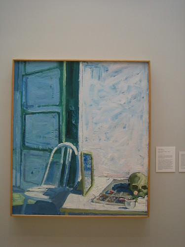 Mirror, Skull, and Chair, Paul Wonner _ 1877