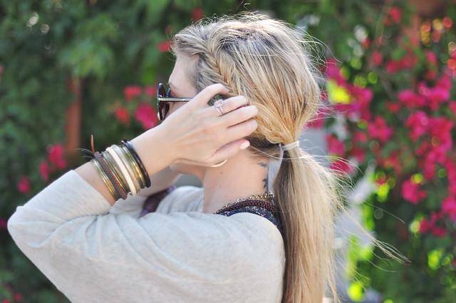 fish tail braids hair style