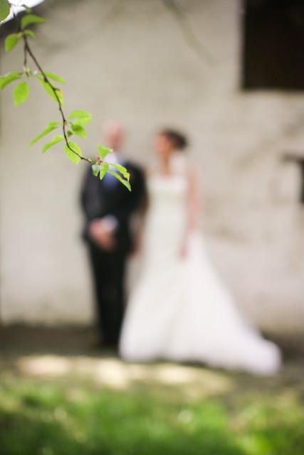 Een bruid en een gom