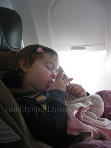 On the airplane