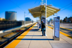 Southbound (tappit_01) Tags: waiting lightrail trainstop tiltshift