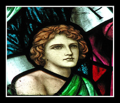 Youthful face (Lawrence OP) Tags: holiday church window glass stained buckland stmarys preraphaelite
