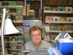 Steve Propes in his vinyl element