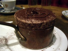 Souffle au chocolate - Bistro Vue