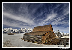 Omens of Spring (James Neeley) Tags: winter snow mountains landscape spring wyoming grandtetons tetons hdr grandtetonnationalpark mormonrow antelopeflats 5xp moultonbarn jamesneeley