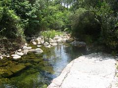 SDépart du canyon du Vivaggiu : plus d'eau qu'en été !