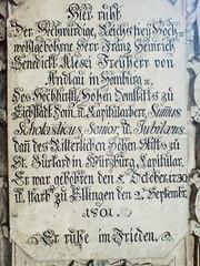 Gedenktafel 1801 (Bundscherer) Tags: typography number gravestone type date numeral fraktur 1730 inscription eichstätt typografie 1801 zahl ziffer fassadenbeschriftung