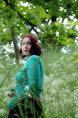 24.217 (only alice) Tags: flowers trees summer selfportrait green me grass sunshine june wednesday break afternoon walk ofme off explore 24 cowparsley timeoff 365days onlyalice