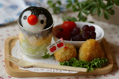 Penguin kids meal for my boy (luckysundae) Tags: kawaii bento japanesefood obento kidsmeal charaben