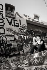 Fragile (ToNToN CoPT) Tags: portrait urban bw graffiti marseille noiretblanc tag graph nb marseilles urbain coursjulien coursju