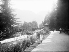 Aux Quinconces, Luchon, 17 aot 1908 (bibliothequedetoulouse) Tags: boy mountain path walk firtree couplewalking boychild whiteclothes bibliothquedetoulouse