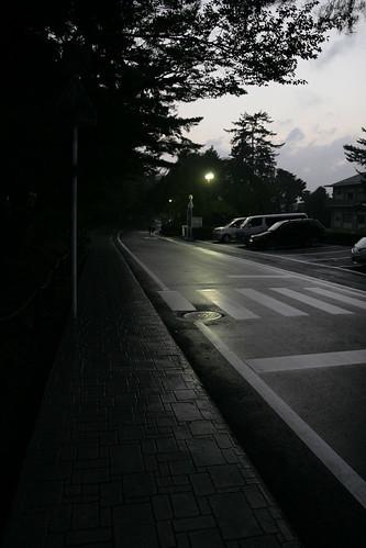 梅雨の夕暮れ