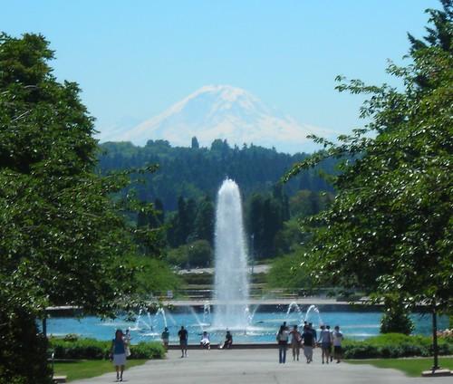 Mt. Rainier and Fountain