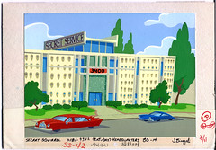 Hanna-Barbera building (Fred Seibert) Tags: building sign architecture losangeles droopy jonnyquest hollywood yogi googie cahuenga secretsquirrel yogibear flinstones captainplanet huckleberryhound hannabarbera 2stupiddogs