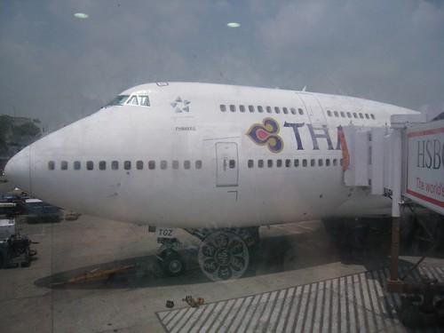 THAI 747 jumbo jet
