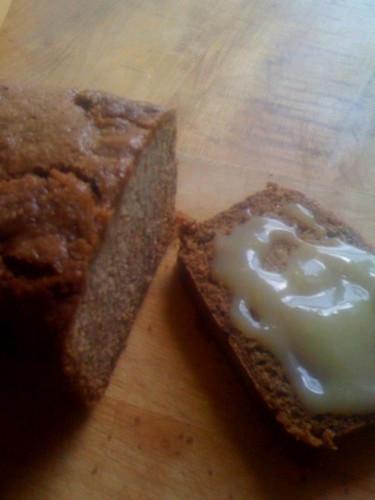 Zucchini bread and lemon curd