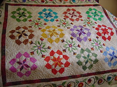 VQG Opportunity quilt (Jessica's Quilting Studio) Tags: arizona flower floral phoenix jones quilt jessica border feathers feather quilting freehand custom mctavish applique longarm machinequilting jessicajones gamez mctavishing longarmquilting rafflequilt jessicabrunnemer valleyquiltmakersguild opportunityquilt