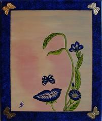 i fiori di Christian cm60x50 (vittoriasalati) Tags: colore blu quadro gemma christian sensationa