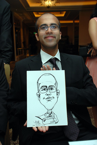caricature live sketching for wedding dinner 120708  - 25