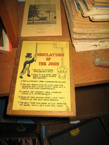 Regulations of the John sign
