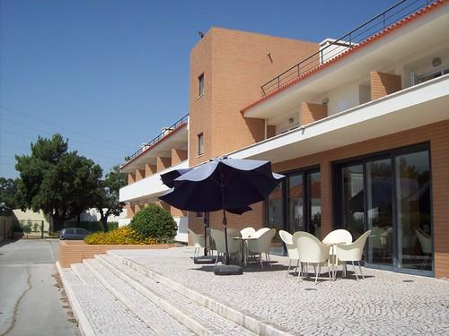A esplanada do hotel